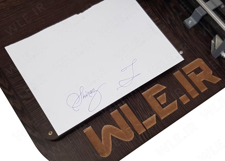 درج امضا روی کاغذ با دستگاه CNC نویسنده و نقاش