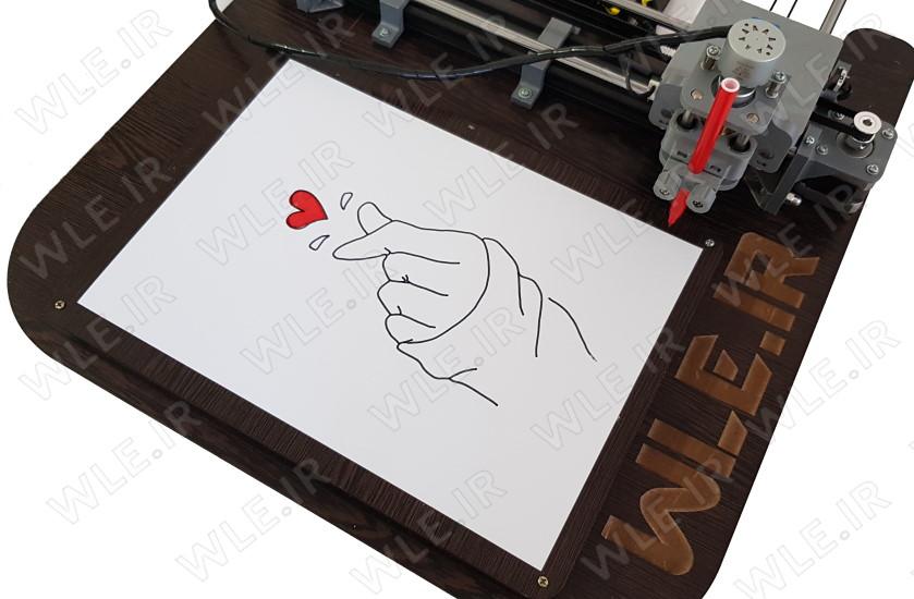 رسم طرح قلب رنگی