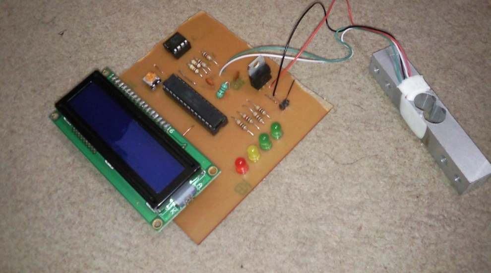 پروژه ترازوی دیجیتال با AVR