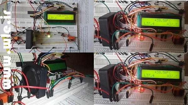 پروژه کنترل دمای محیط در بازه مورد نظر