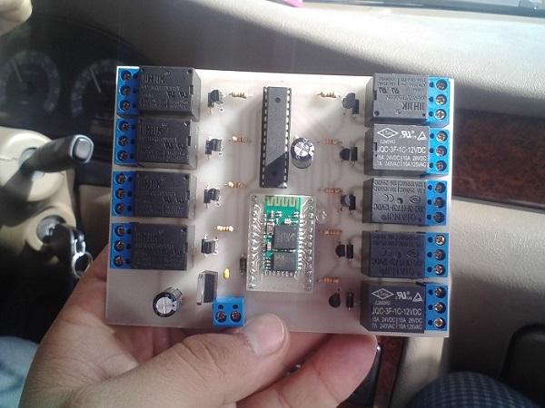 پروژه رادیو کنترل ربات با گوشی اندروید