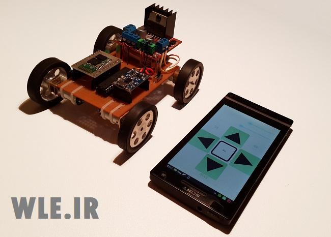 کنترل ربات با گوشی اندروید و بلوتوث