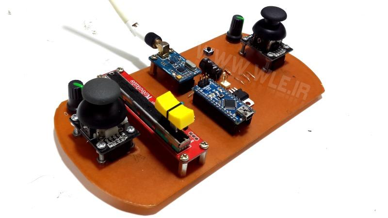 ساخت رادیو کنترل 8 کاناله با آردوینو نانو