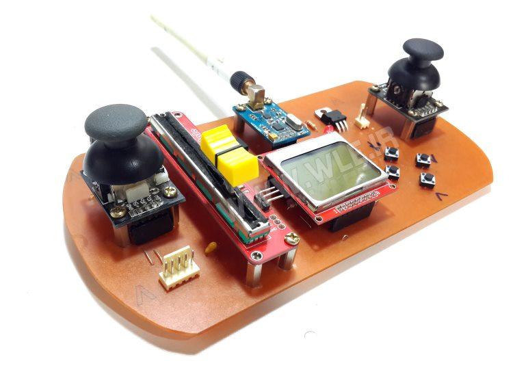ساخت رادیو کنترل 10 کاناله با NRF24L01+
