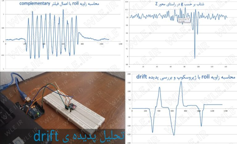 آموزش کامل کار با سنسور شتابسنج و ژیروسکوپ MPU6050