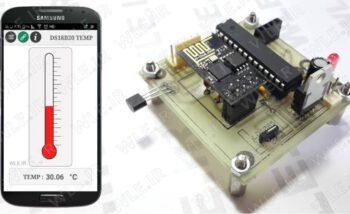 ارسال دمای ds18b20 با WI-FI و نمایش در گوشی اندروید