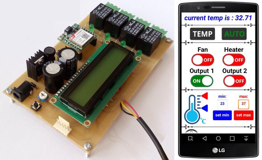 کنترل و مانیتورینگ دمای محیط توسط sms(ترموستات هوشمند)