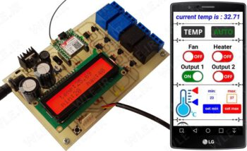 ترموستات هوشمند کنترل و مانیتورینگ دمای محیط با sms